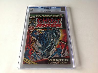 Ghost Rider 1 Cgc 5.5 1St Appearance Son Of Satan 1973 Marvel Comics