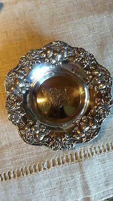 Woodside Sterling Co ~ Sterling Silver Repousse Strawberry Bowl ~ 62g, 5.5""