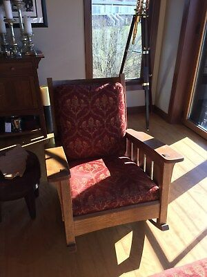 Stickley Mission rocking chair and ottoman