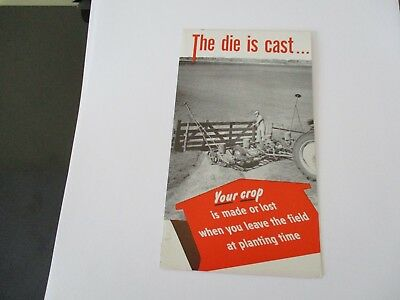 1951 John Deere The Die Is Cast Planting-Drilling 490-290 Small 4 Fold Brochure