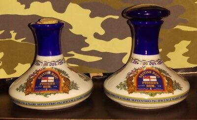 "2 Vintage British Naval ""pusser's Rum"" Miniature Bottle Imported By James Catto"