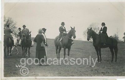 ASTON HALL derbyshire FOX HUNTING MEET 18,11,1920 RPPC.1920s social history