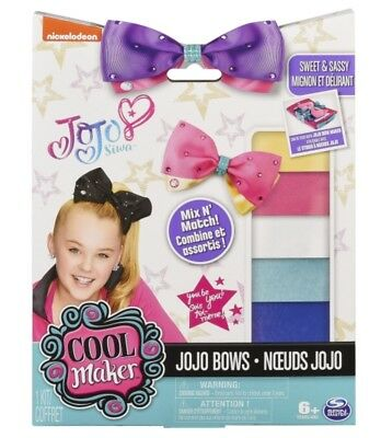 SpinMaster JoJo Siwa Cool Maker Bow Maker Accessory Pack Refill Kit Ribbons Bows