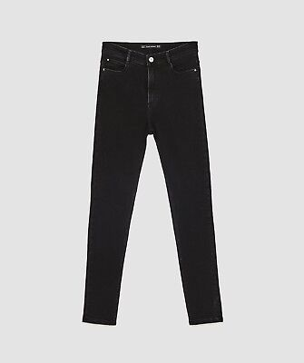 ZARA HIGH-RISE SKINNY FIT JEANSTRF Size 14 BlackPERFECT Brand New With Tags