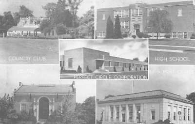 Hagerstown Indiana City Building Multiview Vintage Postcard K80345