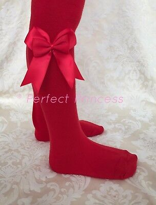 Christmas Tights Red Green Spanish Double Bow Baby and Girls, Party