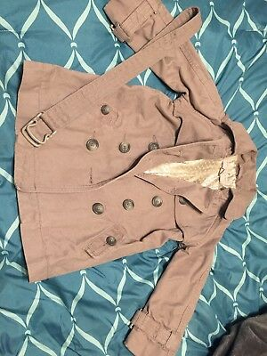 Stella McCartney Baby Gap Toddler Youth Tan Trenchcoat Lined Size 3