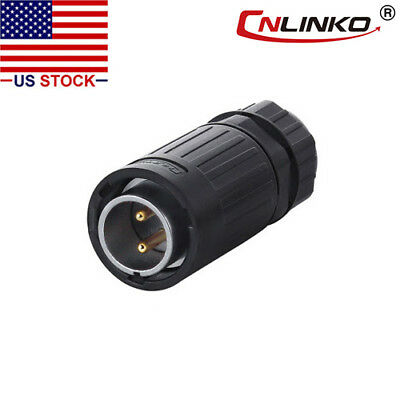 2 Pins Power Industrial Connector-Male Plug,Outdoor,IP67,Bayonet,AC/DC Signal