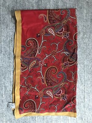 "Metropolitan Museum of Art Silk Scarf, Rich Paisley, 18"" x 70"", Exc Condition"