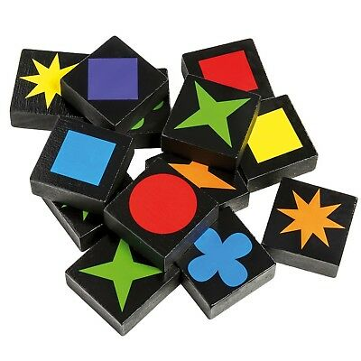 108pcs Wooden Qwirkle Board Game Mix Match 2/4 Players Matching Colours & Shapes