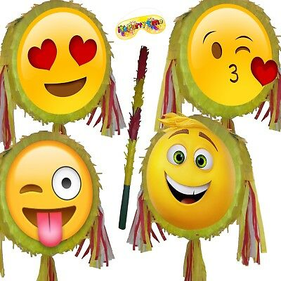 Emoji Pinata smash Birthday Party smileys smiley face emoticons moji icon smile