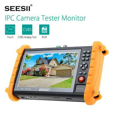 "IPC9600S 7"" Touch Screen Analogy Video POE ONVIF IP Camera Tester Monitor 12V"