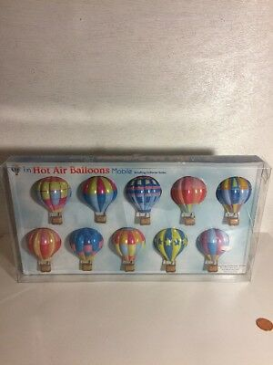Tin Hot Air Balloons Mobile Schylling Collector Series Decoration Only Not A Toy