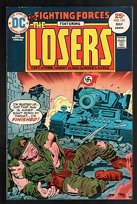 Our Fighting Forces #155 FN 6.0 DC Bronze Age War 1975 Jack Kirby The Losers!!!