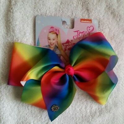 NWT AUTHENTIC SIGNATURE JoJo Siwa LARGE RAINBOW BOW NICKELODEON ☆ FREE SHIPPING