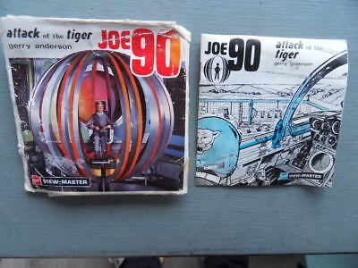 Viewmaster Gerry Anderson Joe 90 21 3D pics from the 1960s with mini booklet