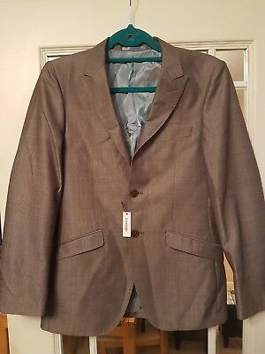 boys mid grey 2 button suit jacket.Bnwt. Age 13/14 years, pockets still stitched