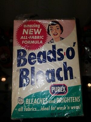 Vintage Advertising  Beads O' Bleach Empty Box By Purex