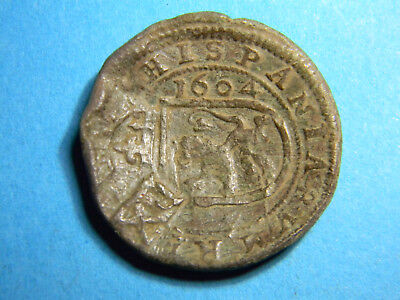 1604 Spain Spanish Counterstamp Coin  (01569)