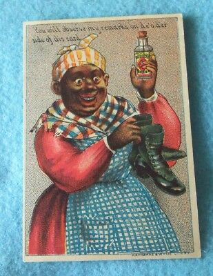 Advertising Victorian 1880's Trade Cards...black Americana