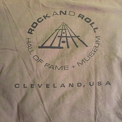 Rock N Roll Hall of Fame Cleveland - Vintage Shirt 90's - XXL Brown 2XL