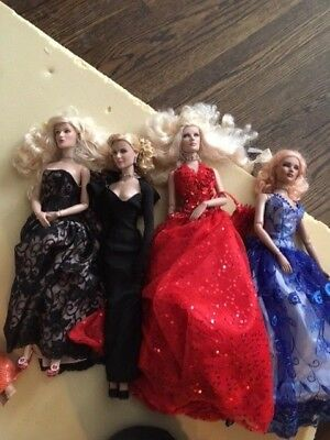 "LOT OF 4 Robert Tonner - Tyler Wentworth Collection 16""  jointed Dolls - gowns"