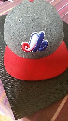 Montreal Expos MLB New Era 59FIFTY Baseball Cap Cooperstown Collection,40%wool