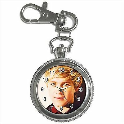 NEW* HOT NIALL HORAN ONE DIRECTION Silver Tone Key Chain Ring Watch Gift