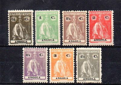 set of 7 mint ceres stamps from portugese angola stamps. 1932