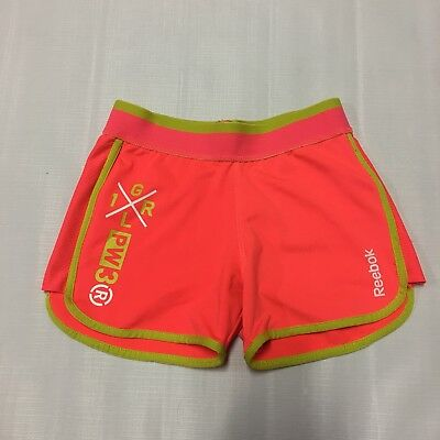 Girls Shorts Sz S 6 Reebok Athletic Activewear Bright Stretch Play Casual