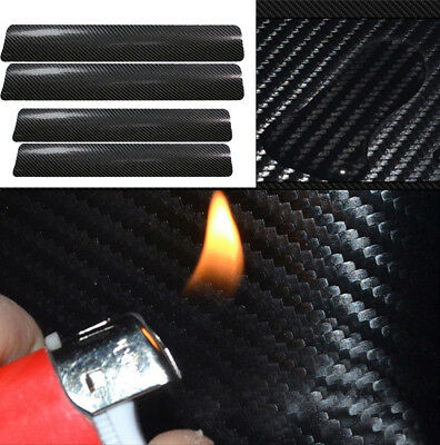 4PCS Car Accessories Door Sill Scuff Welcome Pedal Protect Carbon Fiber Sticker*