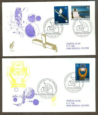 Vatican City Sc# 885-7, Vatican Observatory on 2 First Day Covers