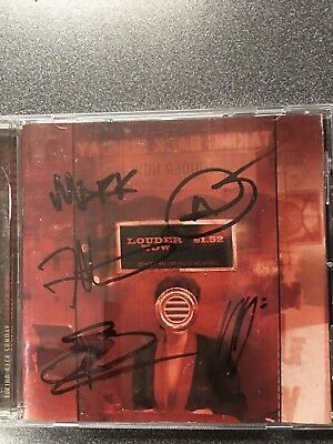 Signed TAKING BACK SUNDAY Louder Now CD by all 5 Members on the album!