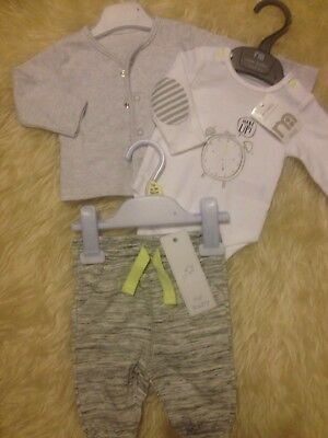 Gorgeous Nb/1M 'all New' 2 Tagged Mothercare/f&f Winter Outfit Low/comb P&p 10P