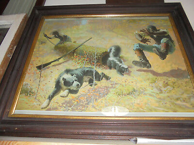 1908 Winchester Advertising/calendar Page Black American Framed Print