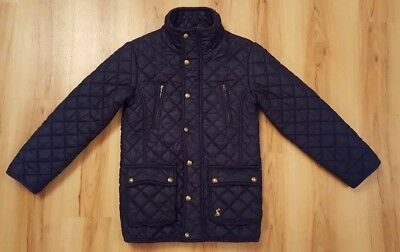 Joules Girls Navy Quilted Jacket / Coat. Age 6-7 years