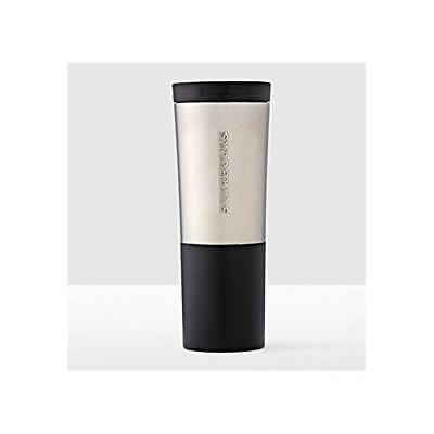 Starbucks Brushed Silver & Black Stainless Steel Tumbler (20 fl oz)