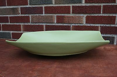 resin coated aluminum serving bowl Avocado Lime Green Large Centerpiece Display