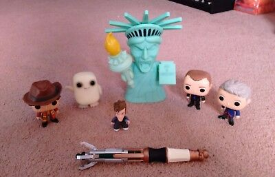 Lot of Doctor Who Figures from Funko! BONUS Sonic Screwdriver!