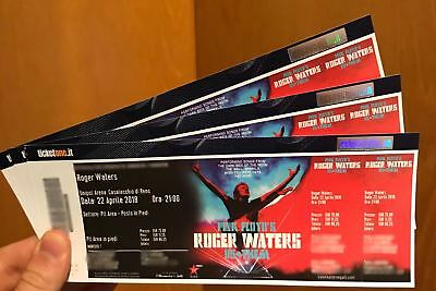 ★ INTROVABILI BIGLIETTI Roger Waters Pink Floyd PARTERRE GOLD PIT 22/04 Bologna★