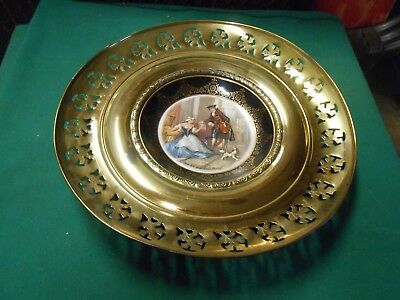 "Great REGENCY Bone China with Brass WALL PLAQUE ""Cries of London Sweet Oranges"""