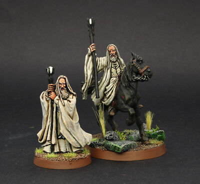 LOTR  Saruman Ft and Mtd WELL PAINTED