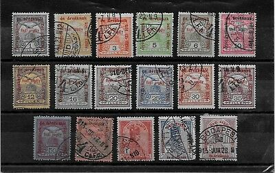 HUNGARY - 1915 War Charity Fund Complete Set - VFU