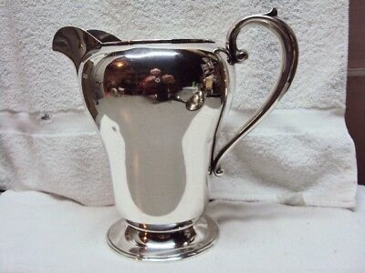 Manchester Silver Co Rhode Island USA Sterling Silver Water Pitcher #908