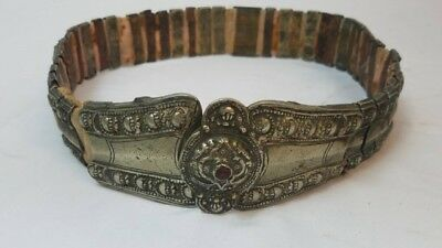 Vintage Antique Persian Ottoman 19 Century Silver Filigree  Belt Weight 1 LB