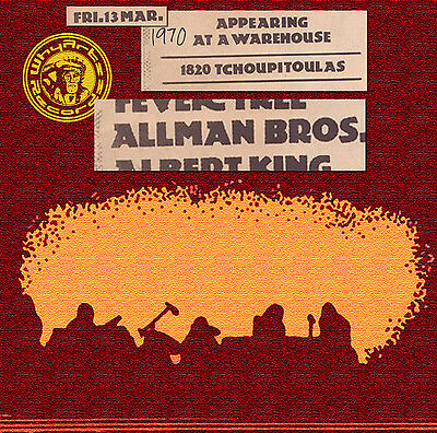 THE ALLMAN BROTHERS 1st time Live at The Warehouse NOLA, Mar 13 1970, on CD