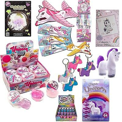 Unicorn Girls Party Bag Fillers Pass The Parcel Toys Glow&Grow your own Unicorns