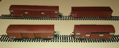 JOUEF - Lot de 4 wagons marchandise en excellent état