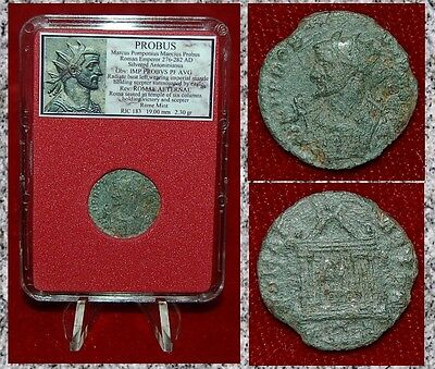 Ancient Roman Empire Coin Of PROBUS Roma In Temple Reverse Antoninianus