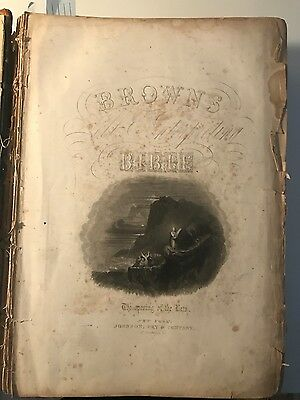 Antique Self Interpreting Holy Bible